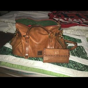 Dooney and Bourke satchel bag with matching wallet